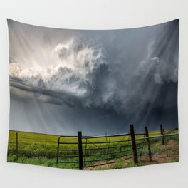 Harmony - Storm Cloud Over Southern Plains Wall Tapestry