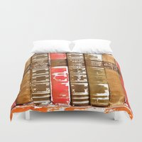 books Duvet Covers featuring Books by Regan's World