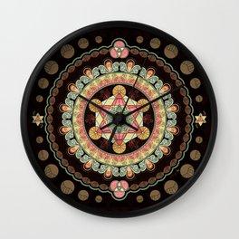 Merkabah Transformational Bliss Wall Clock