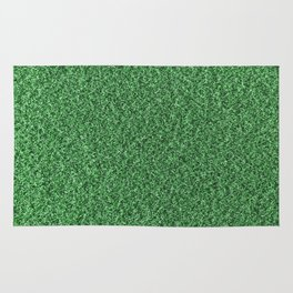 Green Fleecy Material Texture Rug