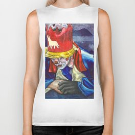 Thinking Clown Biker Tank