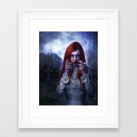 witchcraft Framed Art Prints featuring WitchCraft by Nicole Omernick (nikkidoodlesx3)
