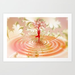 Yoga Meditation Dancing Art Print