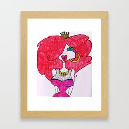 The Red Princess Framed Art Print