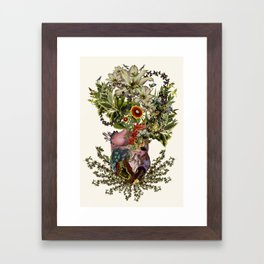 """indurare"" anatomical heart collage by bedelgeuse Framed Art Print"