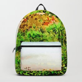 Catanzaro: green and buildings Backpack