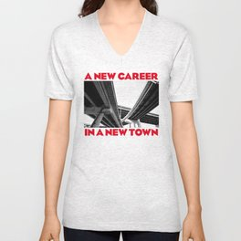 Bowie - A New Career in A New Town Unisex V-Neck