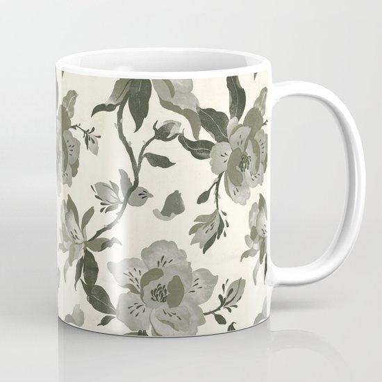 Black Magnolia Pattern Mug