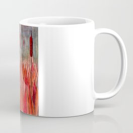 Sunset Over the Cattail Field Coffee Mug