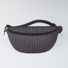 Navy & Rust VII Soft Pastel Rust Dots Fanny Pack