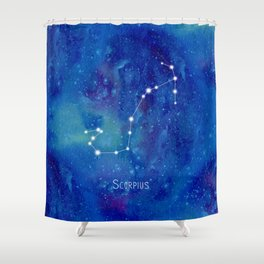 Constellation Scorpius Shower Curtain