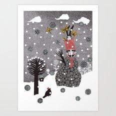 Snow Magician Art Print
