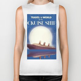 Travel the world by Cruise Ship Biker Tank