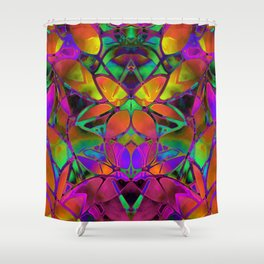 Floral Fractal Art G306 Shower Curtain