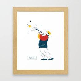 Trumpeter Framed Art Print