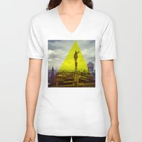milan V-neck T-shirts featuring Milan by natsnats