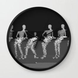 Manikin - Glitch Art Wall Clock