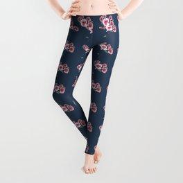 Watercolor Floral Bouquet Pattern Leggings