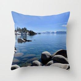 Sand Harbor, Lake Tahoe Throw Pillow