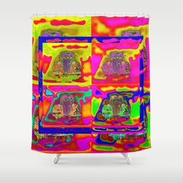CRAZY NUT OLD CARS Shower Curtain