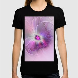 Abstract Flower With Pink And Purple Fractal T-shirt