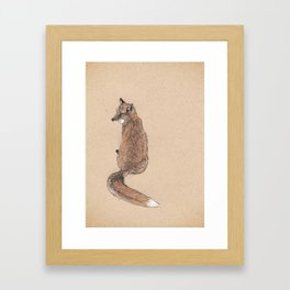 Fox folk Framed Art Print