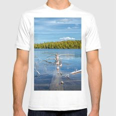 Smoke Lake Mens Fitted Tee White MEDIUM