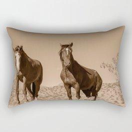Wild_Horses Sepia 3501 - Nevada Rectangular Pillow