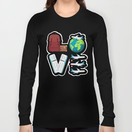 Traveling Catch Flights, Exploring The World, Catching  Flying Travels Long Sleeve T-shirt