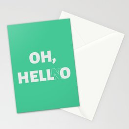 Oh, Hell No Stationery Cards