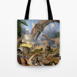 Jurassic dinosaurs being born Tote Bag