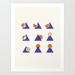Circle Meets Triangle - Composition 13 Art Print