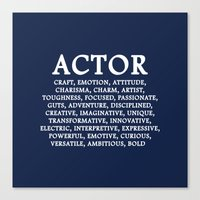 actor Canvas Prints featuring ACTOR by IDMP