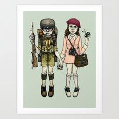 SAM and SUZY Art Print