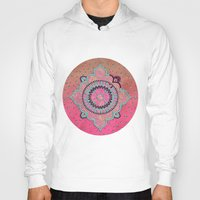 india Hoodies featuring India Pink by LebensART
