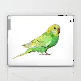 Geometric green parakeet Laptop & iPad Skin