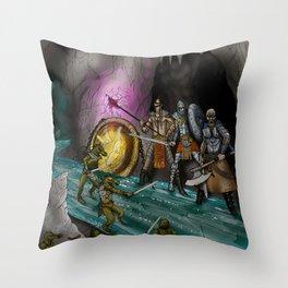 Ambush at the Entry Cave Throw Pillow
