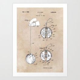 patent art Zopf Yo-Yo 1969 Art Print