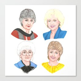 Golden Girls Square Canvas Print