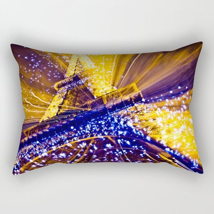 Supernova Eiffel Rectangular Pillow