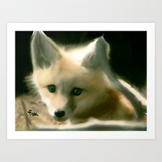 BLUE EYED FOX Art Print