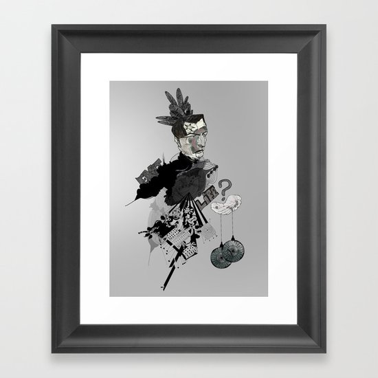 My interrogation? Framed Art Print