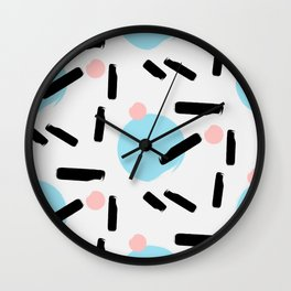 Colo pop circles Wall Clock