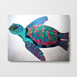 Sea Turtle's Serenity Metal Print