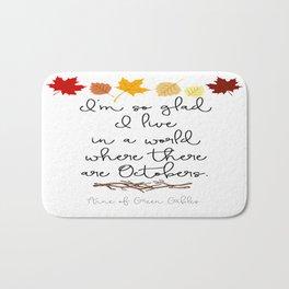 World of Octobers Bath Mat