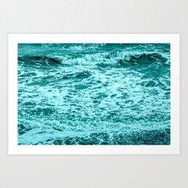 Small Blue Waves Art Print