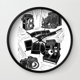 Weapons Of Mass Creation - Photography (blockprint) Wall Clock