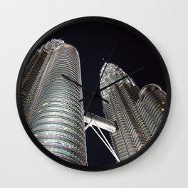 Petronas Twin Tower, KL Malaysia Wall Clock
