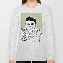 Face Babe Ruth Long Sleeve T-shirt