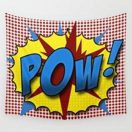 Pop Art Pow in comic Lichtenstein style Wall Tapestry